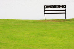 Park bench near the Lake Stock Image