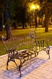 Park bench at night Stock Photos