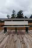 Park Bench by Ocean Stock Photos