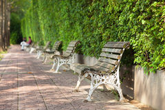 Park bench by park Royalty Free Stock Photography