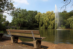 Park. A bench for Relaxing in a park Stock Photo