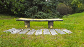 Park Bench. Romantic and peaceful place in the park Stock Images