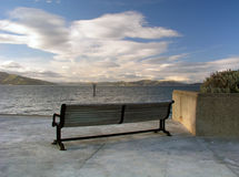 Park Bench and San Francisco Bay Stock Photos