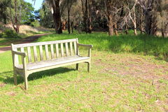 Park bench seat Stock Image