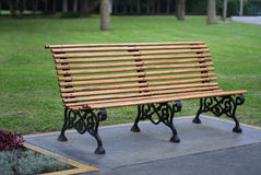 Park bench seat Stock Photo