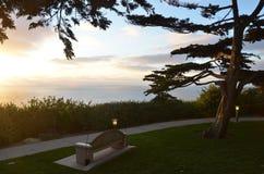 Park Bench Sunset Stock Photography