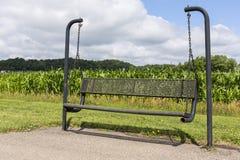 Park Bench Swing Royalty Free Stock Photos