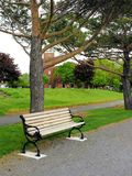Park bench, Terrebonne, QC Stock Photo