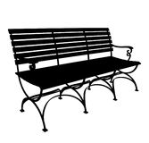 Park Bench Vector 01 Royalty Free Stock Photos