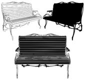 Park Bench Vector 02. Park Bench Isolated Illustration Vector Stock Images