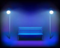 Park bench. Vector Illustration. Stock Image