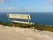 Park bench and view Stock Images