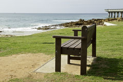 Park bench with a view Royalty Free Stock Images