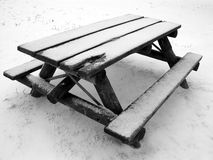 Park Bench - Winter Stock Photography
