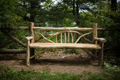 Park Bench Wood Stock Image