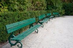 Park benches Royalty Free Stock Photos