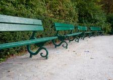 Park benches Stock Photos