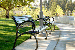 Park Benches royalty free stock images