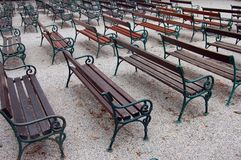 Park Benches Stock Image