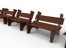 Free Park Benches Arranged In A Row Stock Image - 68914681