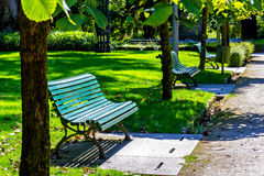 Park benches Stock Photography
