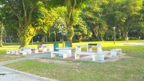 Park benches. Labrador Park, Singapore Stock Image