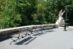 New York City Park Benches Royalty Free Stock Image