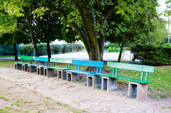 Park benches Royalty Free Stock Photos
