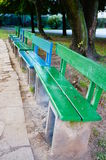 Park benches Stock Photo