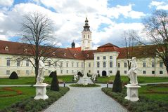Park and Benedictine monastery Altenburg Royalty Free Stock Photos