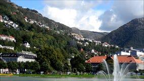 Park in Bergen, Norway stock video