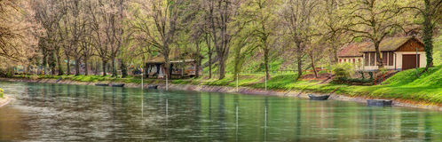 Park in Bern, HDR. Bern, Switzerland - park in in spring, HDR image Royalty Free Stock Photos