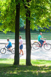 Park bikers Royalty Free Stock Photos