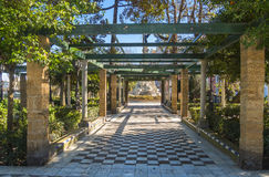 Park on the boardwalk of Cadiz, Genoves Park, Andalusia, Spain Royalty Free Stock Photography