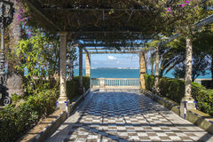 Park on the boardwalk of Cadiz, Genoves Park, Andalusia, Spain Stock Photos