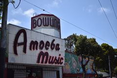 From Park Bowl alley to Amoeba Music, 3. stock photography