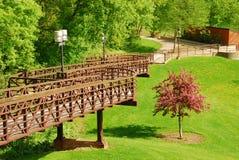 Park-Brücke stockfotos