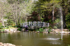 Park Bridge � Sayen Gardens Royalty Free Stock Image