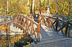 Park bridge at autumn Stock Photos