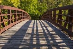 Park Bridge In Autumn Stock Photo