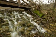Park Bridge & Dam Stock Photo