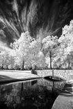 Park Bridge in Infrared Royalty Free Stock Photo
