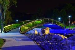 Park bridge - night time Royalty Free Stock Photos