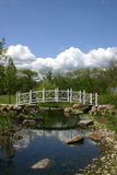 Park Bridge - Sayen Gardens. Footbridge over stream in Sayen Gardens, a public community park located in Hamilton, New Jersey, USA Royalty Free Stock Photography