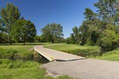 Park Bridge and Trail Royalty Free Stock Photo