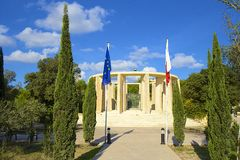 Park in Bugibba, Malta. City park in Qawra and Bugibba, Malta Stock Images