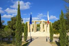 Park in Bugibba, Malta. City park in Qawra and Bugibba, Malta stock images
