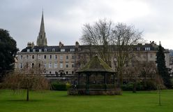 Park and buildings. In Bath Stock Images