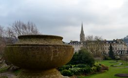 Park and buildings. In Bath Royalty Free Stock Photo