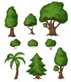 Park bush and tree Stock Photo